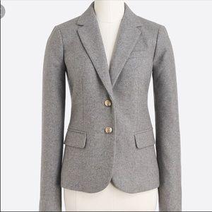 J. Crew gray wool blend gold buttons blazer jacket